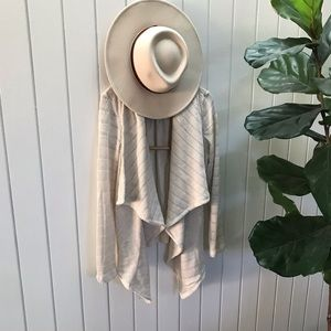 Lucky Brand NWT drape front open cardigan